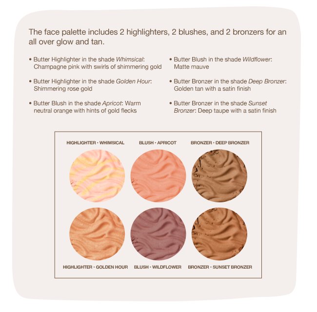 Physicians Formula | Butter Collection X Weylie Hoang - open palette with shade descriptions