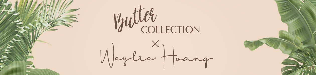 Physicians Formula | Butter Collection X Weylie Hoang - leaves with tan background