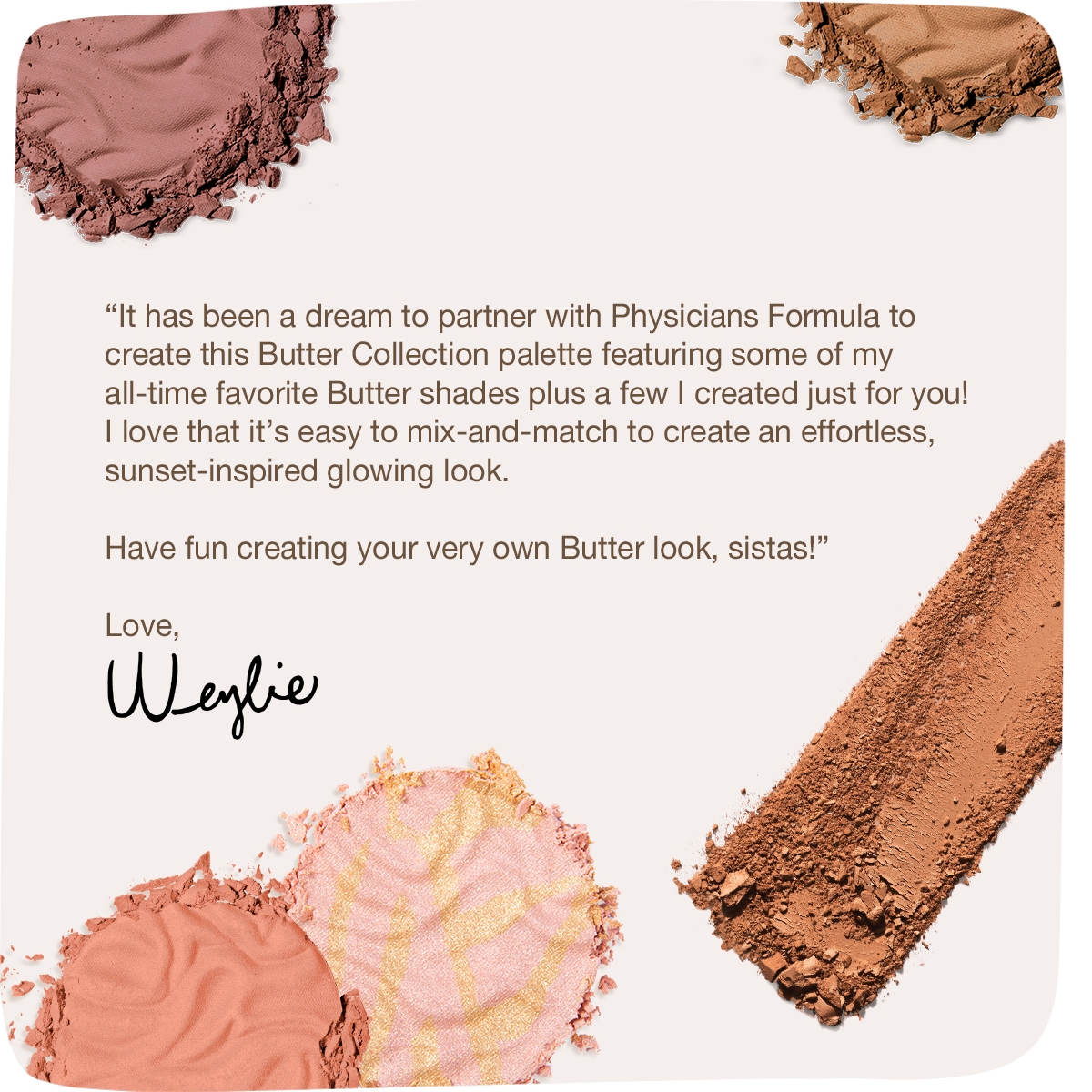 Physicians Formula | Butter Collection X Weylie Hoang - makeup swatched and influencer image