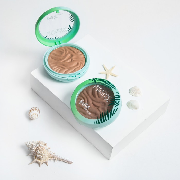 Murumuru Butter Bronzer | Phsicians Formula | Products angled lid open, with white background